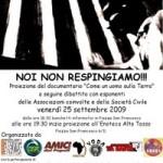 """25.09.09 A Bologna il """" CLANDESTINO DAY"""""""