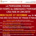 """07.12.11 A Padova il convegno """"La professione forense di fronte all'emergenza profughi. Cosa fare in concreto?"""""""
