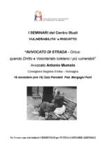 """16.11.12. A Forlì il seminario """"Avvocato di strada, quando diritto e volontariato tutelano i più deboli"""""""