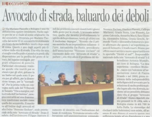 """03.02.13 Corriere del Giorno: """"Vite ai margini, la stazione come casa"""""""