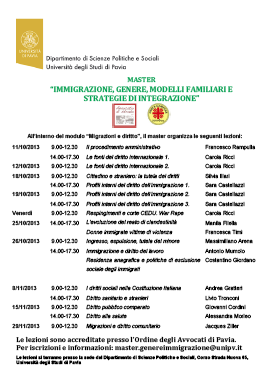 """Avvocato di strada Pavia presenta il modulo giuridico """"Migrazioni e diritto"""""""