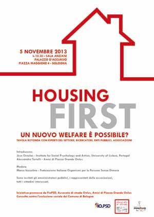 """05.11.13 Tavola rotonda """"Housing First: un nuovo welfare è possibile?"""