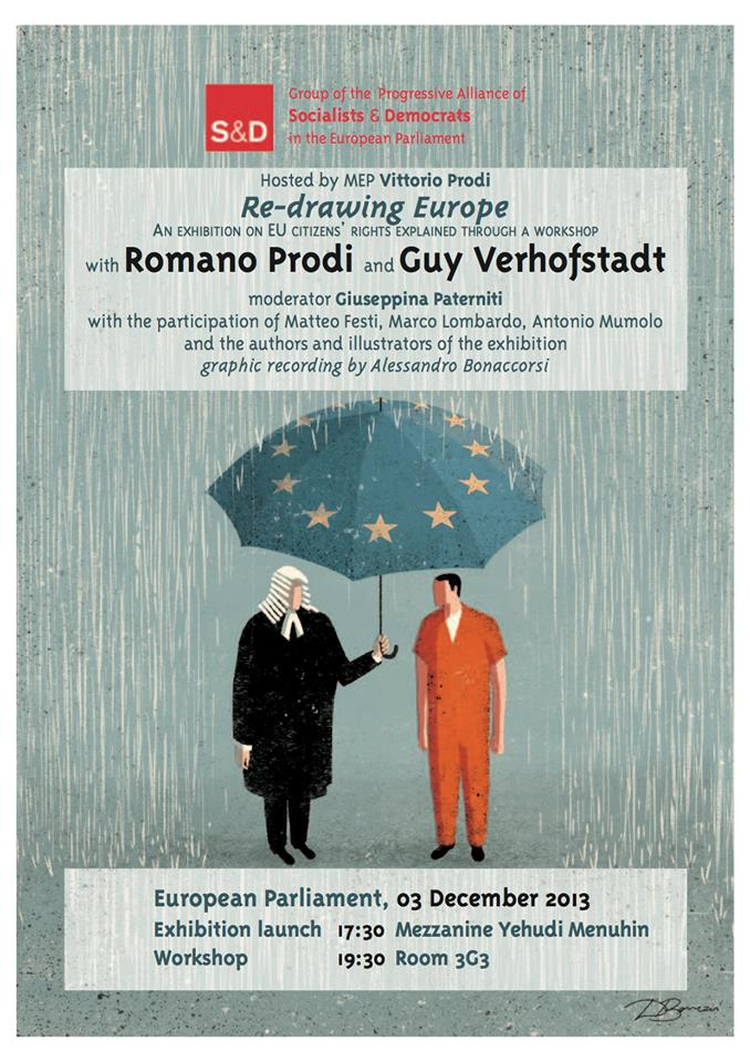 """Bruxelles: """"Re-drawing Europe, An exhibition on EU Citizens' Rights"""""""