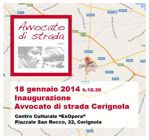 18.01.14 Inaugurazione Avvocato di strada Cerignola (FG)