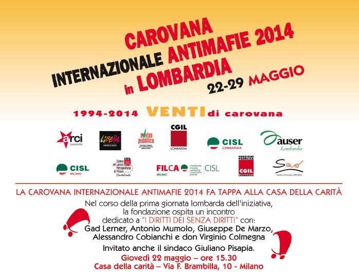 """22.05.14 Milano. Convegno pubblico alla Casa della Carità: """"I diritti dei senza diritti"""""""