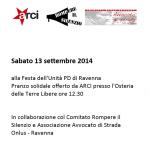 13.09.14 Pranzo di solidarietà a Ravenna