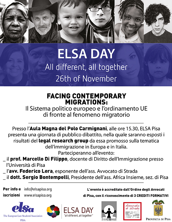 "26.11.14 A Pisa la Conferenza ""Facing Contemporary Migrations"""