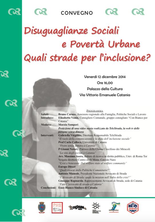 """12.12.14 Catania: """"Disuguaglianze sociali e povertà urbane"""""""