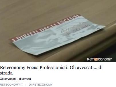 Reteconomy intervista i volontari di Avvocato di strada Milano