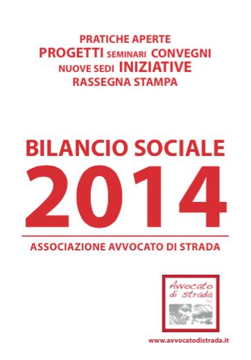 Diritti e povertà. Il bilancio sociale 2014 dell'Associazione Avvocato di strada Onlus
