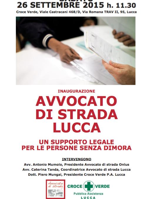 Inaugurazione Avvocato di strada Lucca