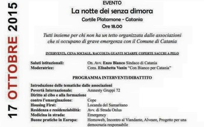 La notte senza dimora 2015 di Catania