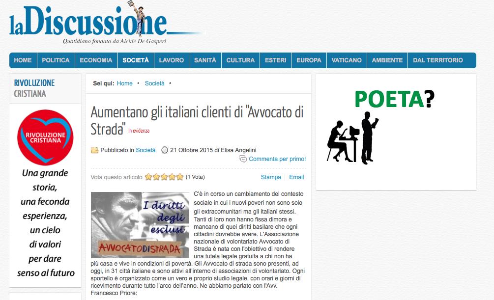 Napoli, aumentano i nostri assistiti italiani