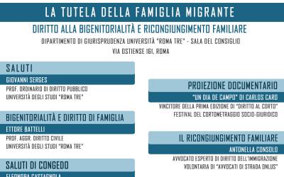 """27.11.15 Università Roma Tre: """"La tutela della famiglia migrante"""""""