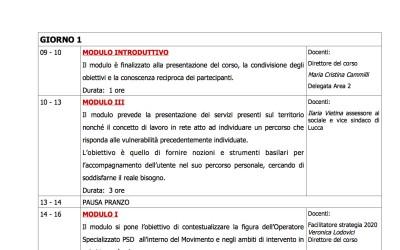 """Lucca, corso di secondo livello per """"Operatore specializzato persone senza dimora"""""""