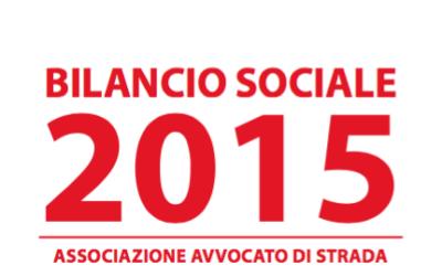 Diritti e povertà. Il bilancio sociale 2015 dell'Associazione Avvocato di strada Onlus