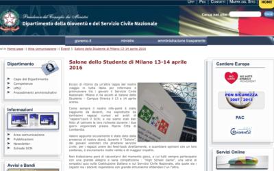 Salone dello Studente di Milano 13-14 aprile 2016