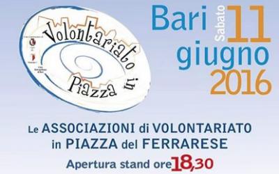 Bari, torna il volontariato in piazza