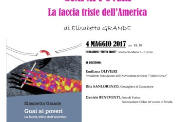 """04.05.17 Torino, presentazione del libro """"Guai ai poveri"""""""