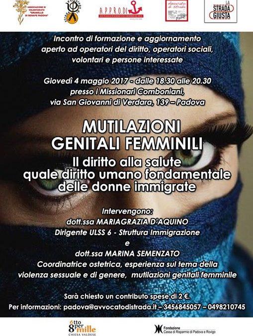 04.05.17 Mutilazioni genitali femminili: il diritto alla salute quale diritto umano fondamentale delle donne immigrate