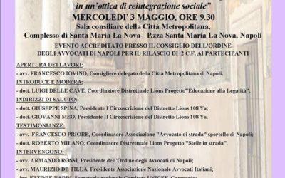 """03.05.17 A Napoli il """"Tavolo Istituzionale sulla Povertà e Legalità"""""""