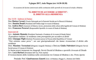 09.06.17 Dieci anni di Avvocato di strada Modena