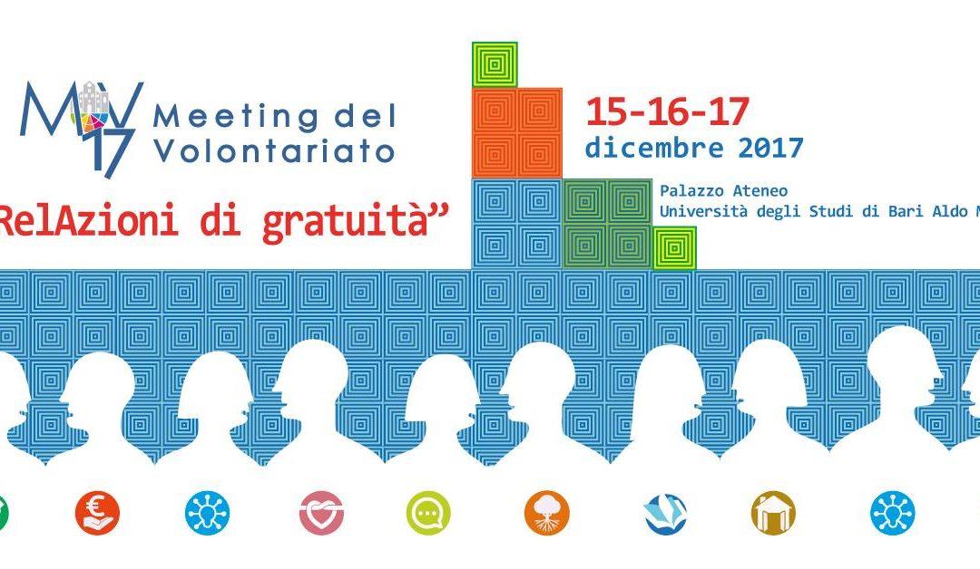 """Al Meeting del volontariato di Bari per costruire """"RelAzioni di gratuità"""""""