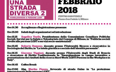 16.02.18, Milano. Una strada diversa: HOMELESSNESS e persone LGBT