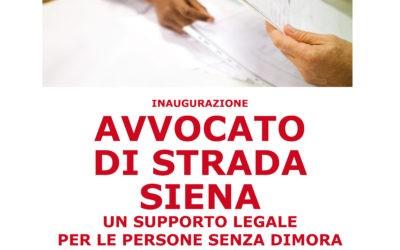 Inaugurazione Avvocato di strada Siena
