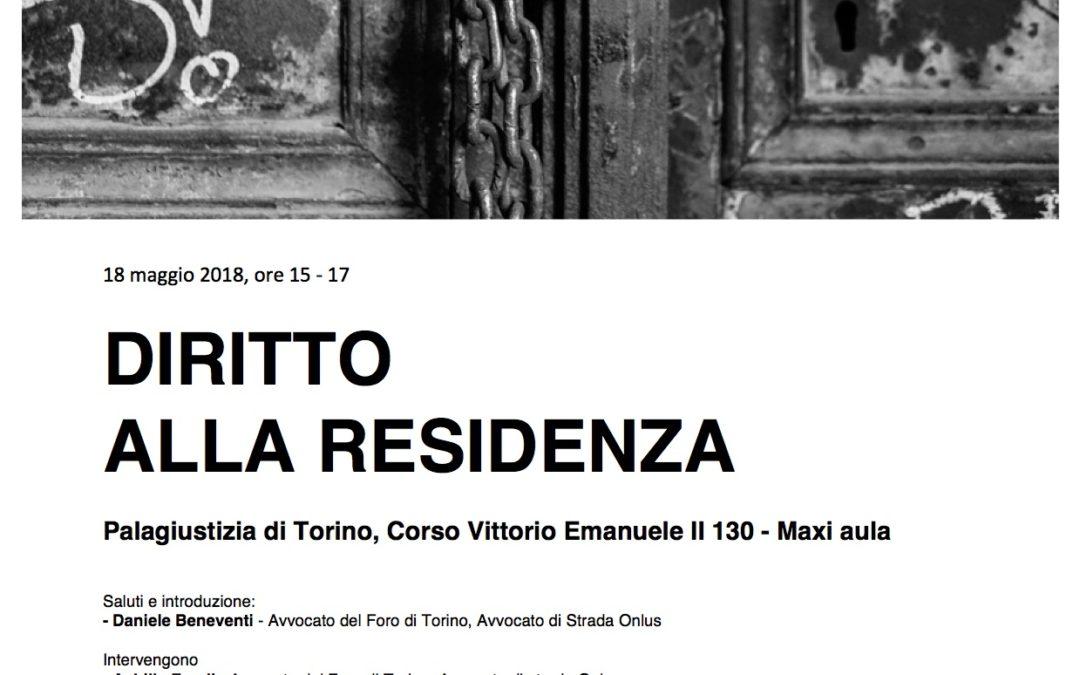 """Torino, gli atti del convegno """"Diritto alla residenza"""""""