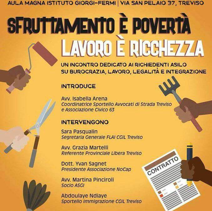 """05.05.18 Treviso, """"Sfruttamento e povertà"""""""