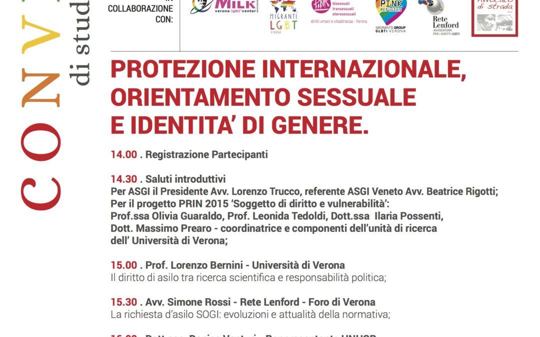 Il convegno di Verona su Protezione internazionale: orientamento sessuale e identità di genere che era stato cancellato si terrà lo stesso