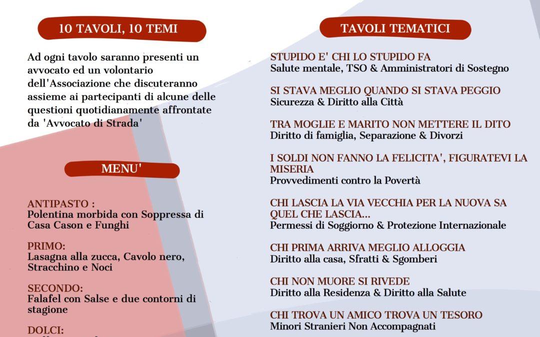 """Arriva a Padova la """"Cena dei diritti"""""""