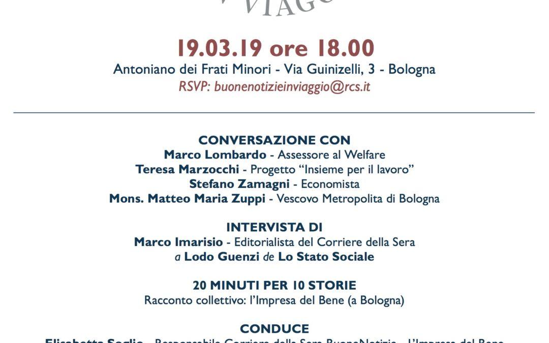 Buone notizie in viaggio il 19 marzo è a Bologna