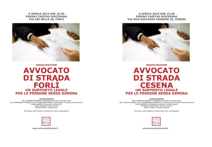 Due nuove sedi di Avvocato di strada a Forlì e Cesena