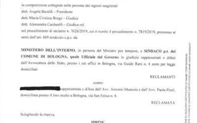 Il Tribunale di Bologna respinge il ricorso del Viminale: si alla residenza ai richiedenti asilo