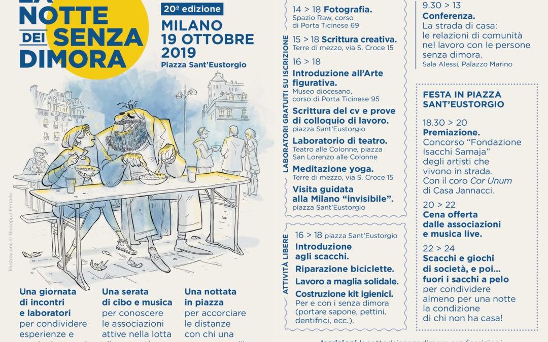Milano, la notte senza dimora 2019