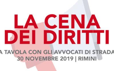 30.11.19, Rimini, a tavola con gli avvocati di strada