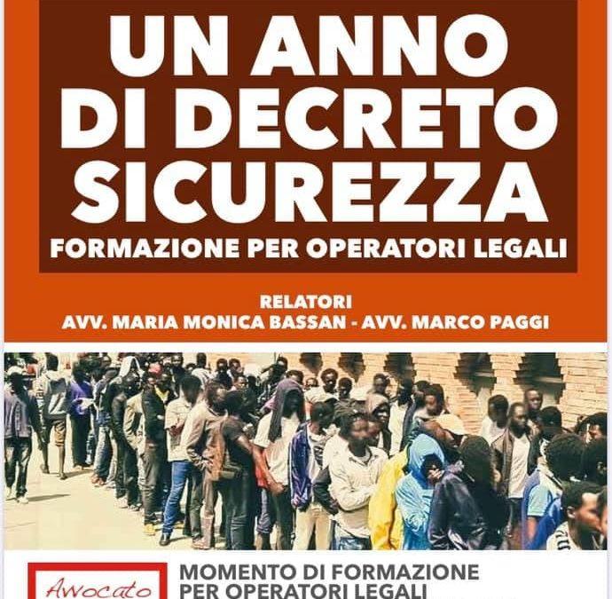 Un anno di Decreto Salvini