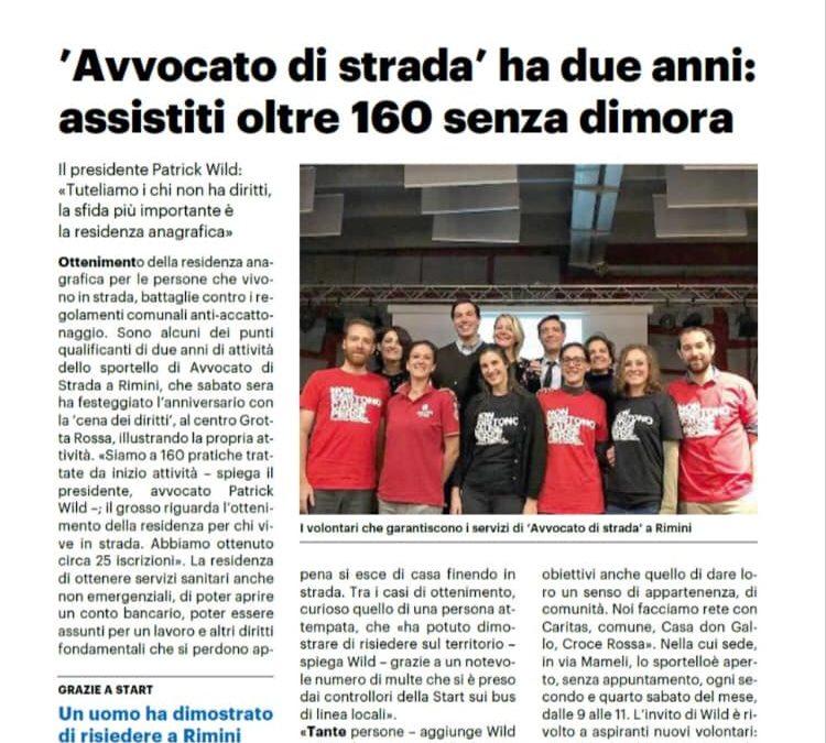 2 anni di Avvocato di strada Rimini