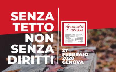 """27.02.20. Genova """"Senza tetto, non senza diritti"""""""