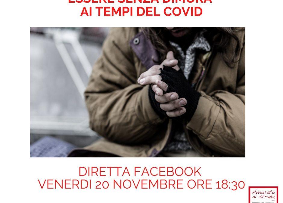 Essere senza dimora ai tempo del Covid. Incontro on line con i volontari di Avvocato di strada Torino