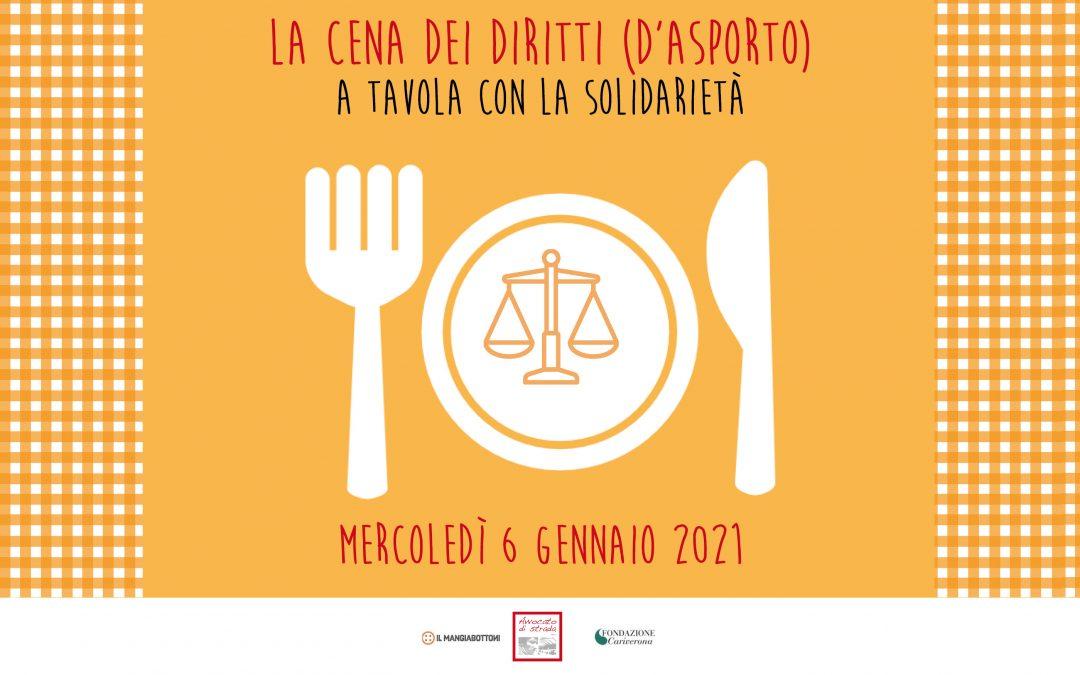 """A Verona """"La cena dei diritti (d'asporto)"""""""