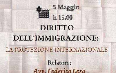 Law Case Study. Diritto dell'immigrazione: la protezione internazionale