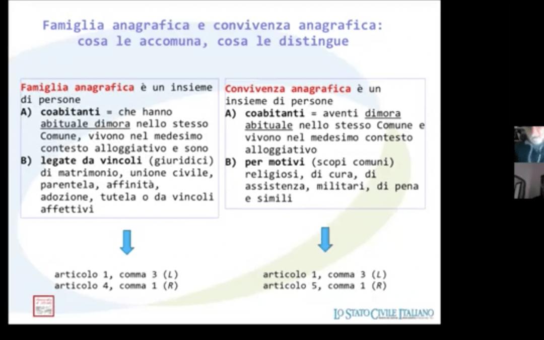 """Il video del webinar """"Guida alla convivenza anagrafica"""""""