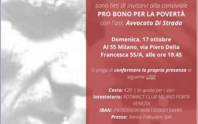 """17.10.21 A Milano """"Pro Bono per la Povertà"""""""